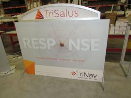 VK-1853 SEGUE Table Top Display with Silicone Edge Fabric Graphics and Aluminum Extrusion Frame