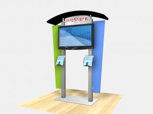 REGD-1230  /  Large Monitor Kiosk with Arch Canopy